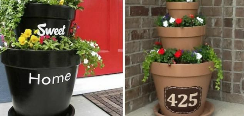 Make Home Number Planters