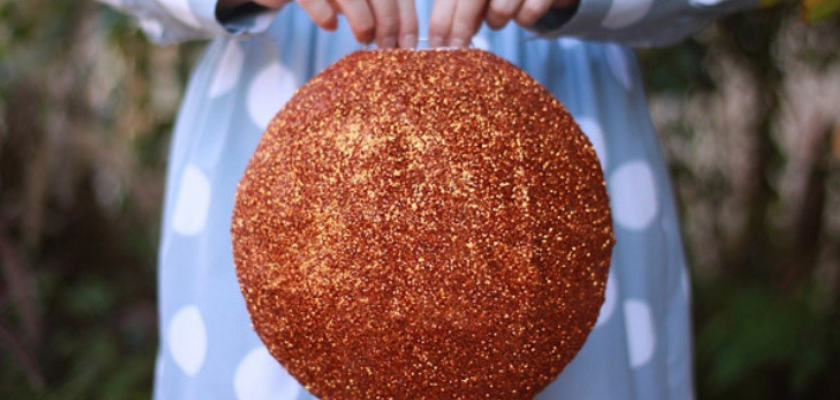 Make a Glittery Disco Ball