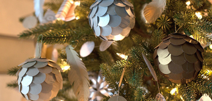 Metallic Paper Ornaments