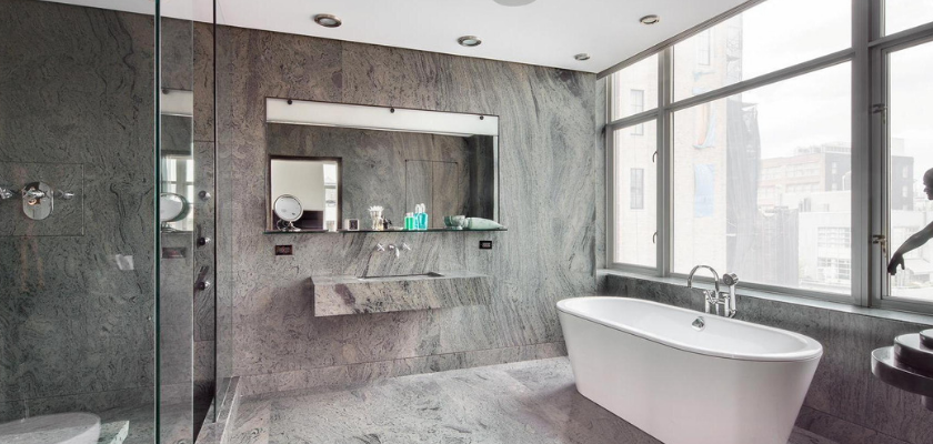 Polished Bathroom (Tub and Tiles)