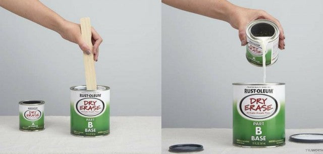 Pour and Mix the Dry Erase Paint