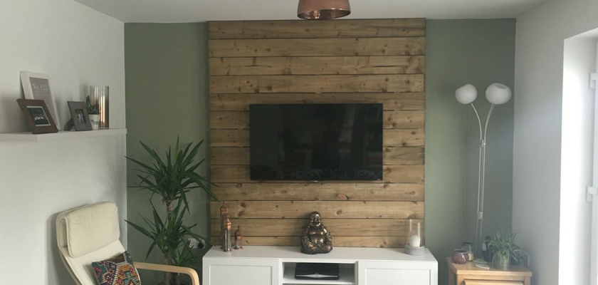 Rustic Wall Behind TV