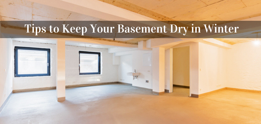 Tips to Keep Your Basement Dry in Winter