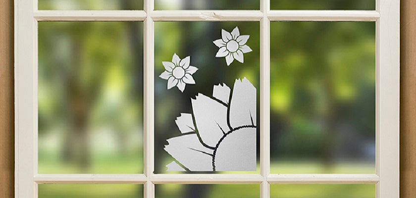 Window Wall Art with Peel Coat