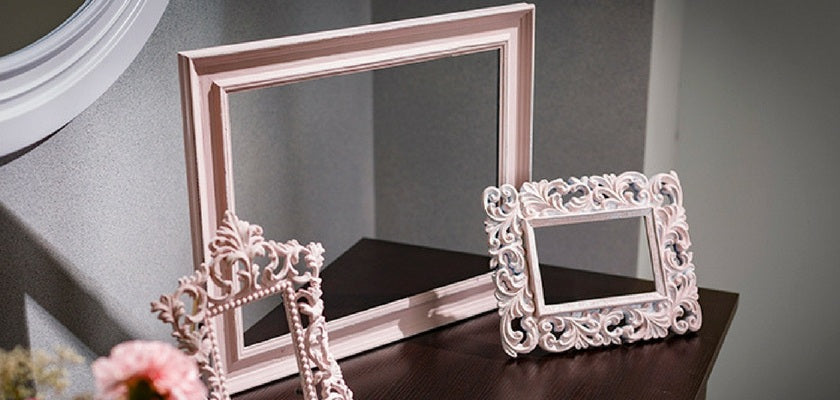 give antique look to picture frames