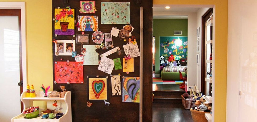 magnetic wall is a kids artwork