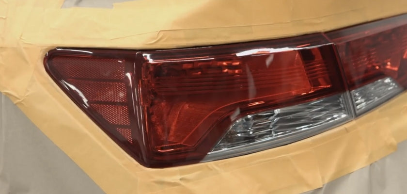 mask off the area around your cars tail lights