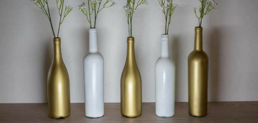 wine bottle turn into vase
