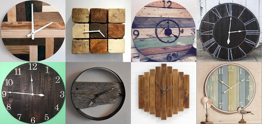 wood stained wall clock