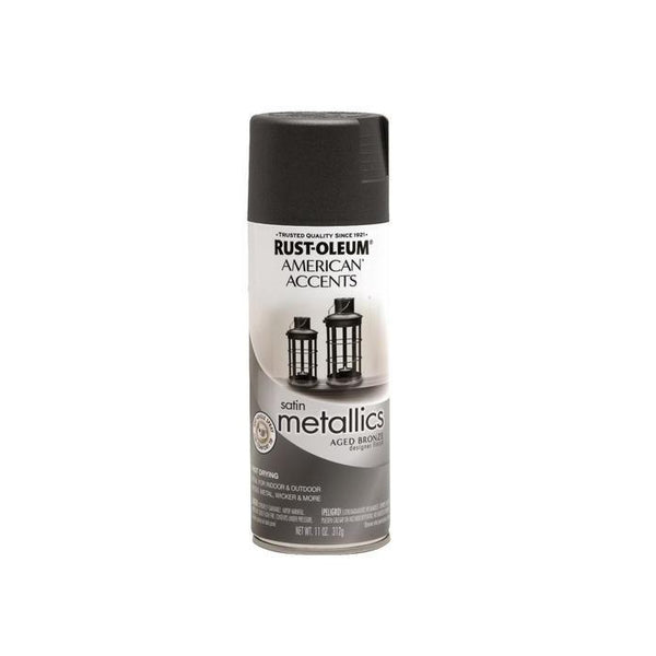 Rust-Oleum American Accents Designer Metallic Spray Paint - Classic Bronze - 312 Grams