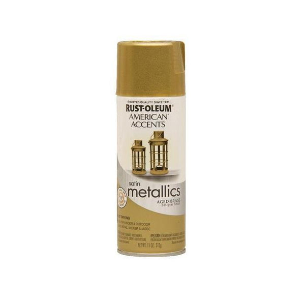 Rust-Oleum American Accents Designer Metallic Spray - Aged Bronze - 312 Grams