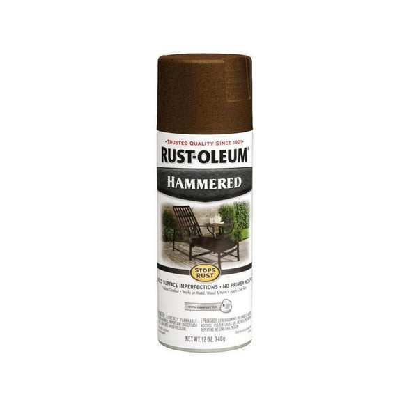 Rust-Oleum Stops Rust Hammered Metal Finish Aerosol Spray Paint - Copper - 340 Grams