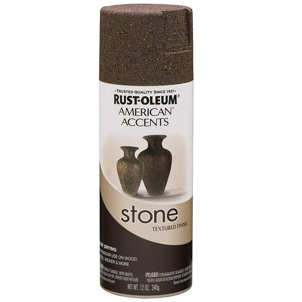 Rust-Oleum American Accents Stone Textured Spray Paint - Granite Stone - 340 Grams