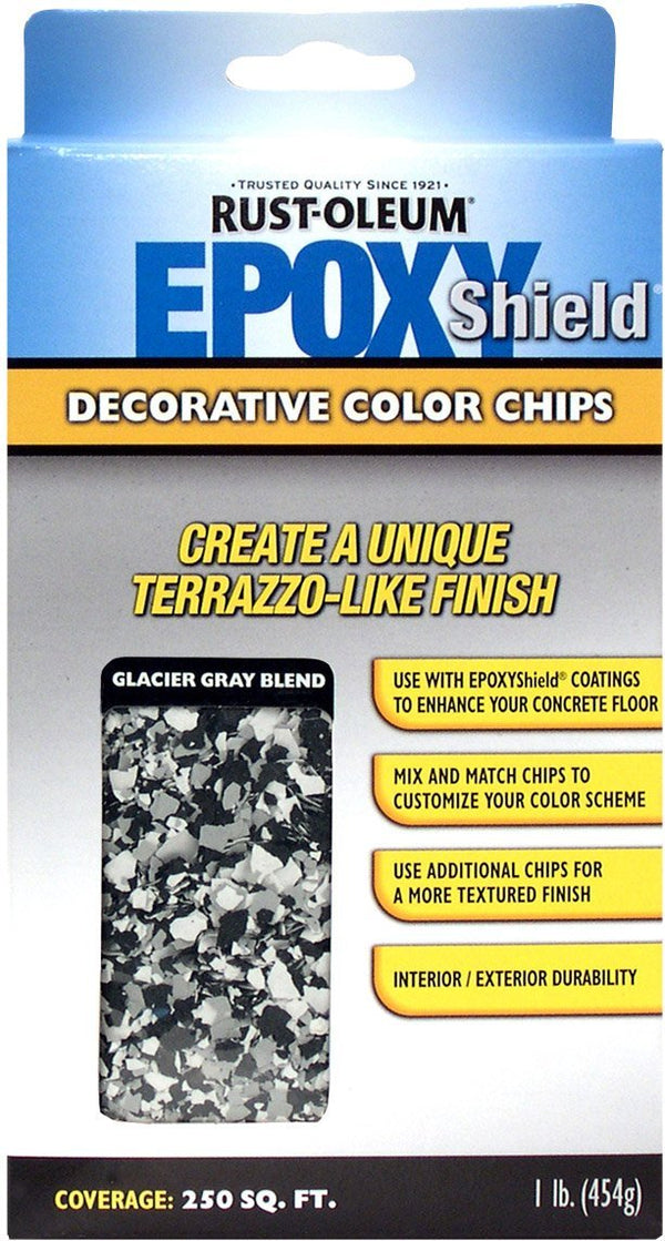 Rust-Oleum Epoxyshield Decorative Color Chips for Garage Floor Coating - Glacier Gray