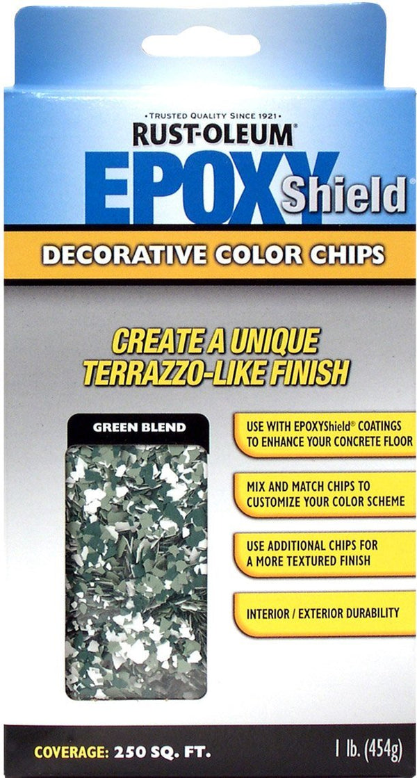Rust-Oleum Epoxyshield Decorative Color Chips for Garage Floor Coating - Green