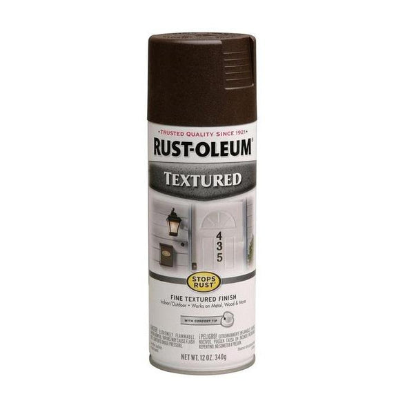Rust-Oleum Stops Rust Textured Spray Paint - Dark Taupe - 340 Grams
