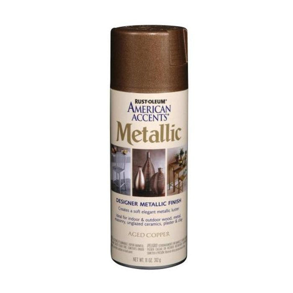Rust-Oleum American Accents Designer Metallic Spray Paint - Satin Nickel - 312 Grams