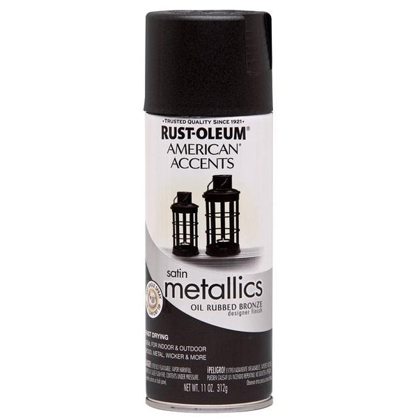 Rust-Oleum American Accents Designer Metallic Spray Paint - Oil Rubbed Bronze - 312 Grams