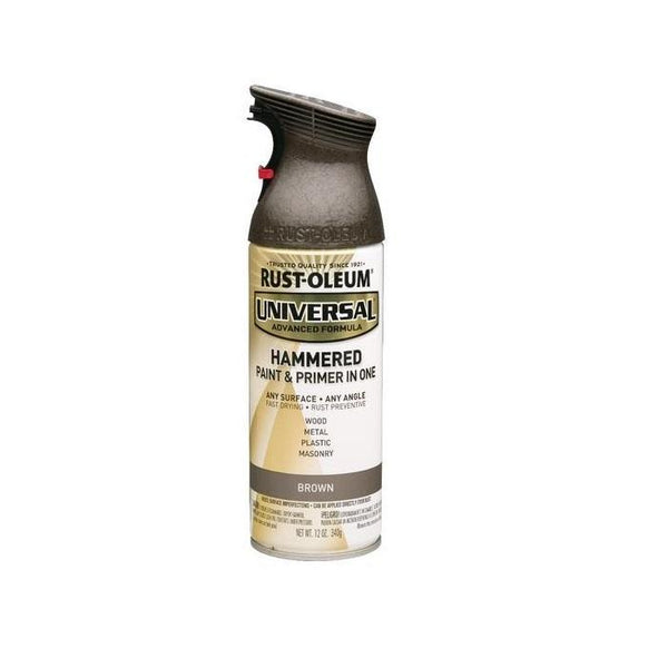 Rust-Oleum Universal Hammered Spray Paint - Black - 340 Grams