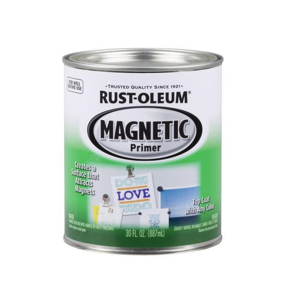 Rustoleum Magnetic Primer - Black Magnetic Paint for Walls