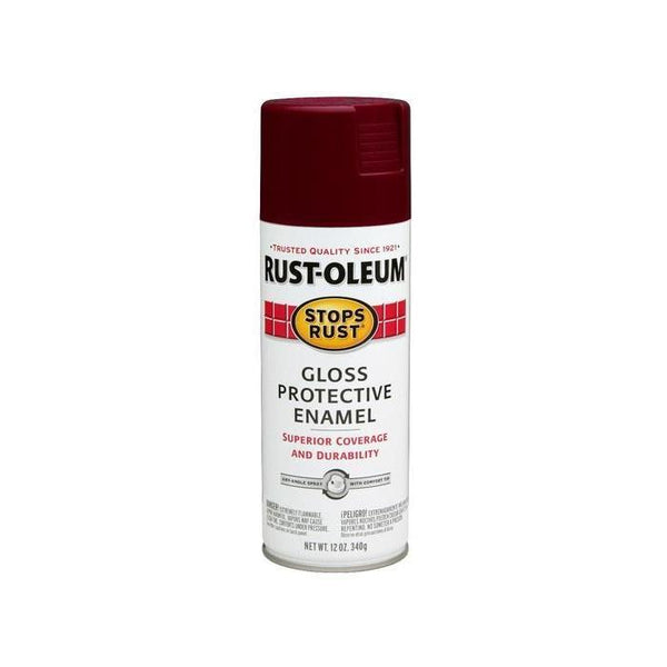 Rust-Oleum Stops Rust Enamel Touch Up Spray Paint - Burnt Orange - 340 Grams