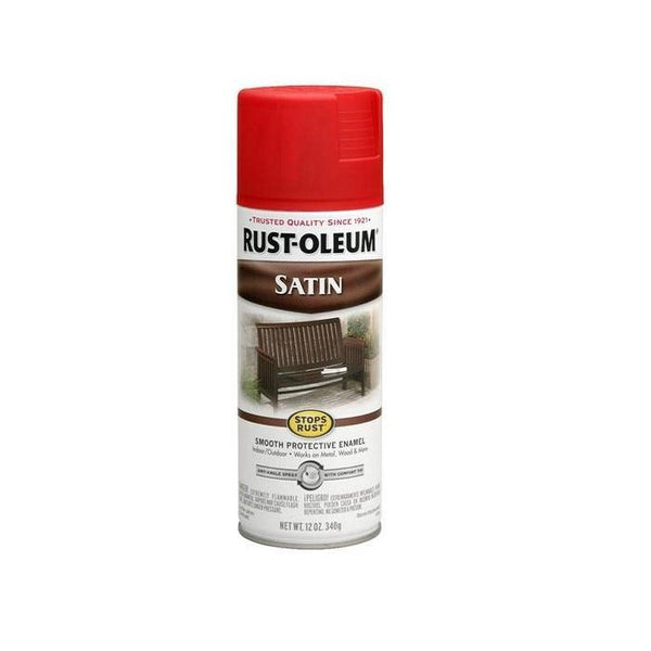 Rust-Oleum Stops Rust Satin Enamel Spray Paint - Dark Brown - 340 Grams