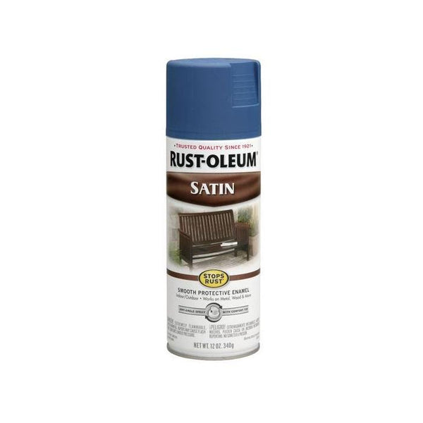 Rust-Oleum Stops Rust Satin Enamel Spray Paint - American Red - 340 Grams
