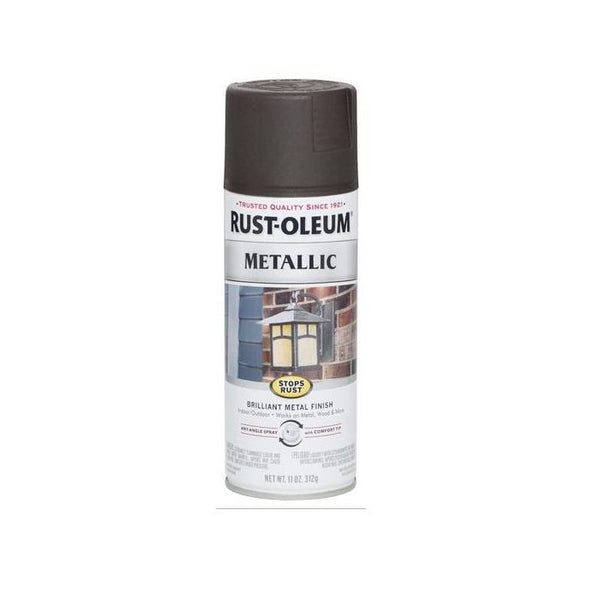 Rust-Oleum Stops Rust Metallic Aerosol Spray Paint - Charcoal - 312 Grams