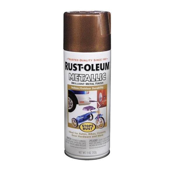 Rust-Oleum Stops Rust Metallic Aerosol Spray Paint - Oil-Rubbed Bronze - 312 Grams