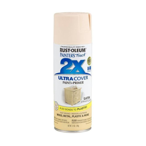 Painters Touch Acrylic Spray Paint for Plastic, Wood, And Metal - Satin Summer Squash - 340 Grams