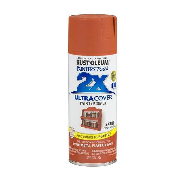 Painters Touch Acrylic Spray Paint for Plastic, Wood, And Metal - Satin Claret Wine - 340 Grams