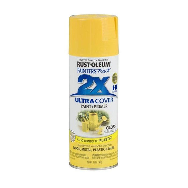 Painters Touch Acrylic Spray Paint for Plastic, Wood, And Metal - Warm Yellow - 340 Grams