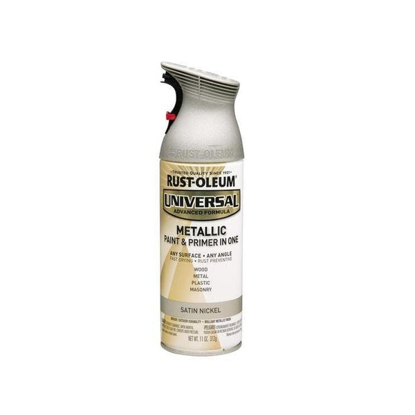 Rust-Oleum Universal Metallic Spray Paint - Titanium Silver - 312 Grams