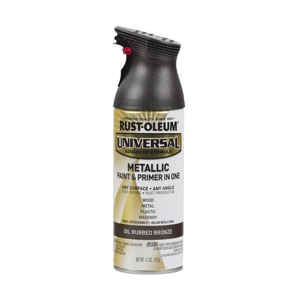 Rust-Oleum Universal Metallic Spray Paint - Satin Nickel - 312 Grams