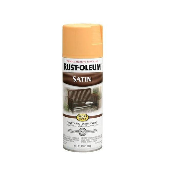 Rust-Oleum Stops Rust Satin Enamel Spray Paint - Indigo - 340 Grams