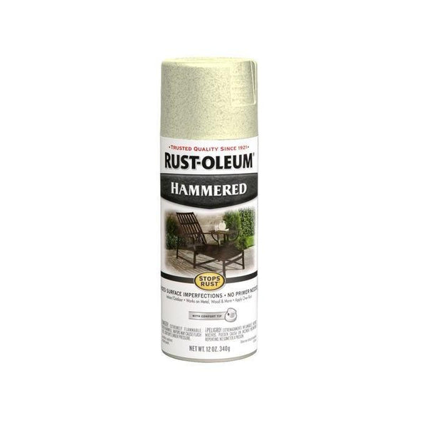 Rust-Oleum Stops Rust Hammered Metal Finish Aerosol Spray Paint - Oatmeal - 340 Grams