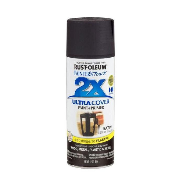 Painters Touch Acrylic Spray Paint for Plastic, Wood, And Metal - Satin Warm Carmel - 340 Grams