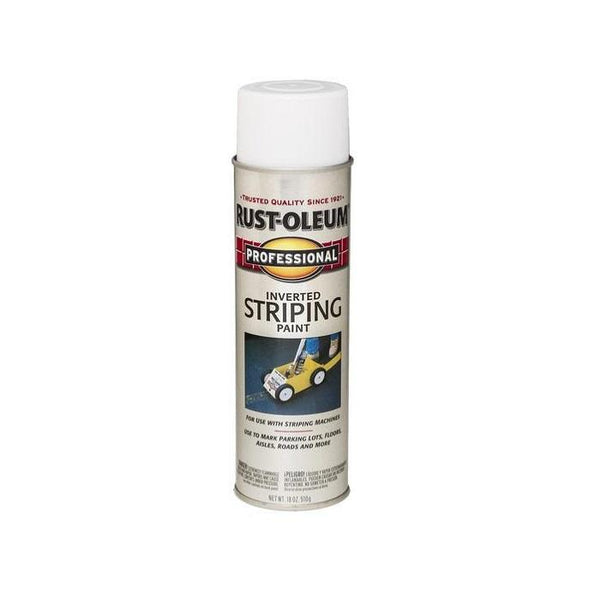 Rust-Oleum Professional Striping Spray Paint - White - 510 Grams