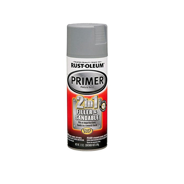 Rust-Oleum Automotive 2-In-1 Sandable And Filler Primer Spray Paint - Gray