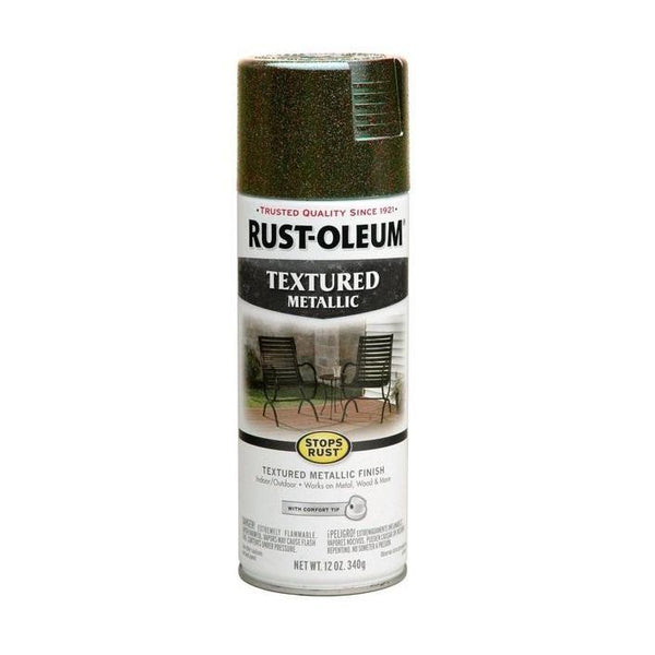 Rust-Oleum Stops Rust Textured Metallic Spray Paint - Mystic Brown - 340 Grams