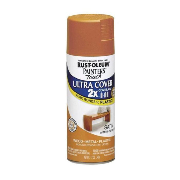 Painters Touch Acrylic Spray Paint for Plastic, Wood, And Metal - Satin Fire Orange - 340 Grams