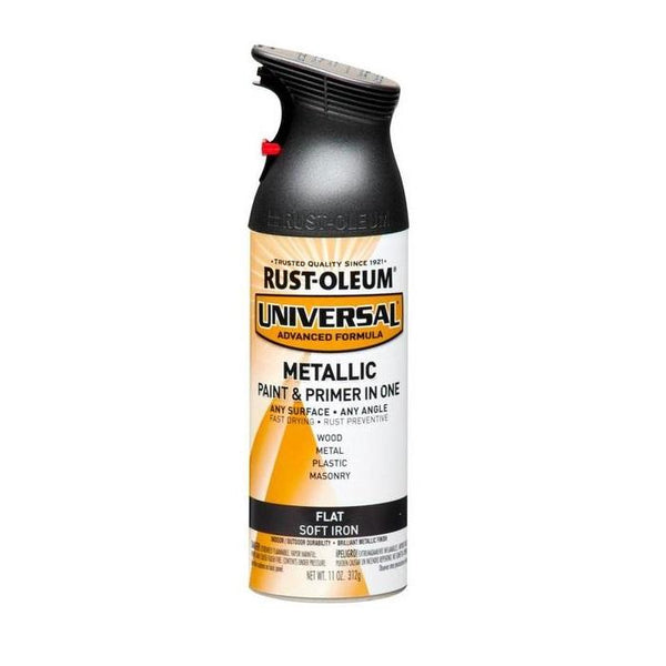 Rust-Oleum Universal Flat Metallic Spray Paint - Burnished Amber - 312 Grams