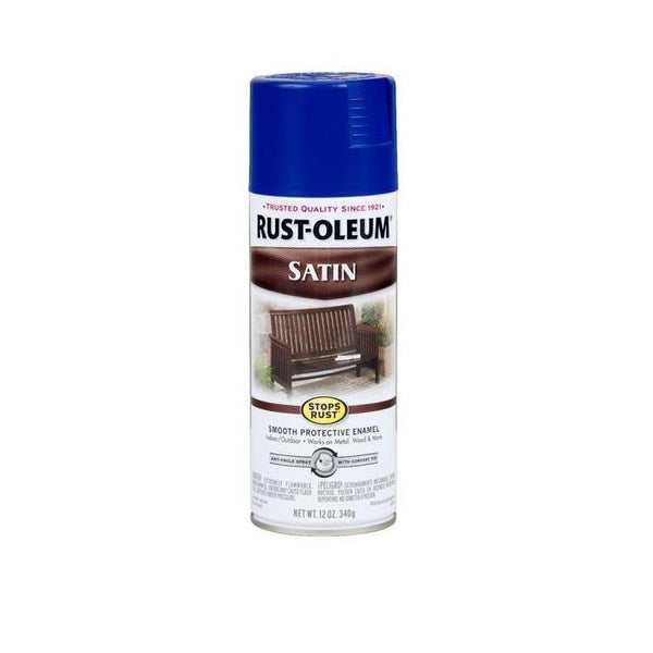Rust-Oleum Stops Rust Satin Enamel Spray Paint - Amber - 340 Grams