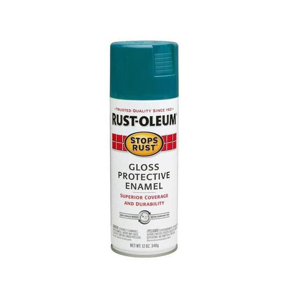 Rust-Oleum Stops Rust Enamel Touch Up Spray Paint - Gloss Emerald - 340 Grams