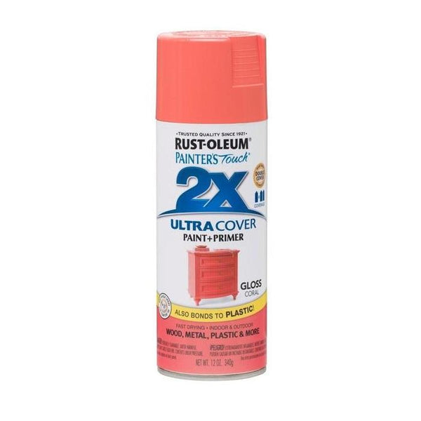 Painters Touch Acrylic Spray Paint for Plastic, Wood, And Metal - Gloss Seaside - 340 Grams