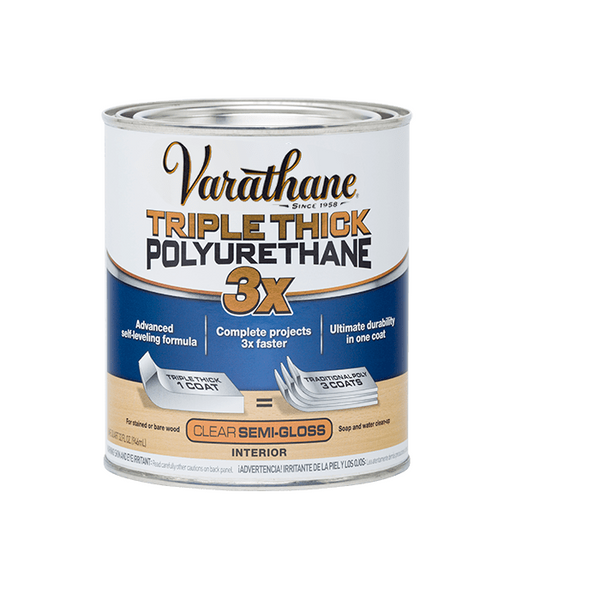 Rust-Oleum Varathane Water-Based Triple Thick Polyurethane for Interior - 946 ml