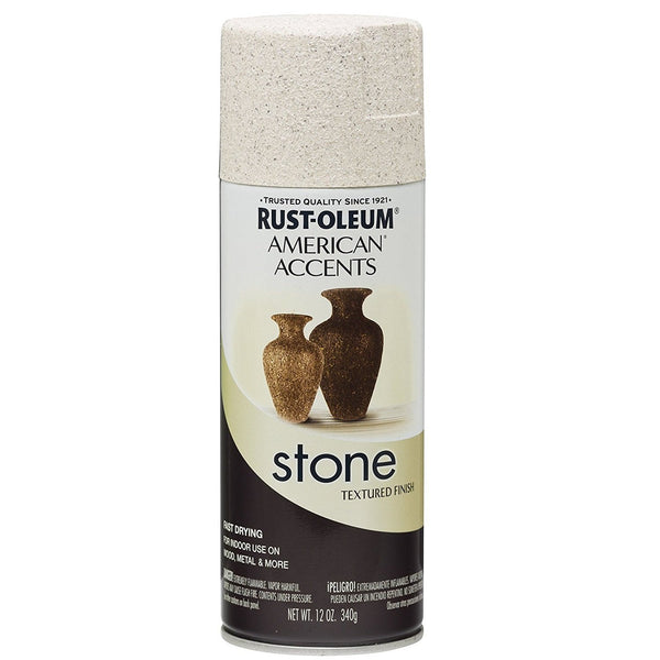 Rust-Oleum American Accents Stone Textured Spray Paint - Canyon Moss - 340 Grams