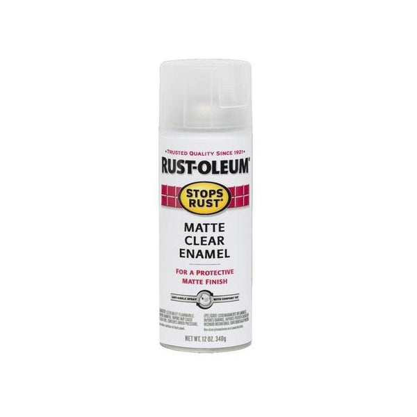 Rust-Oleum Stops Rust Enamel Touch Up Spray Paint - Matte Clear - 340 Grams