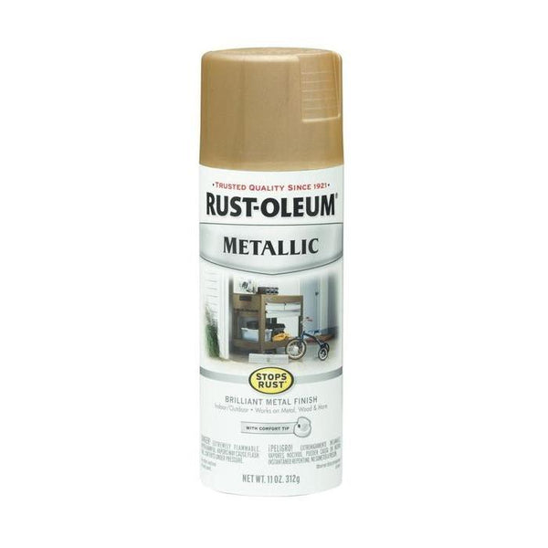 Rust-Oleum Stops Rust Metallic Aerosol Spray Paint - Rose Gold - 312 Grams