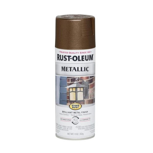 Rust-Oleum Stops Rust Metallic Aerosol Spray Paint - Matte Nickel - 312 Grams